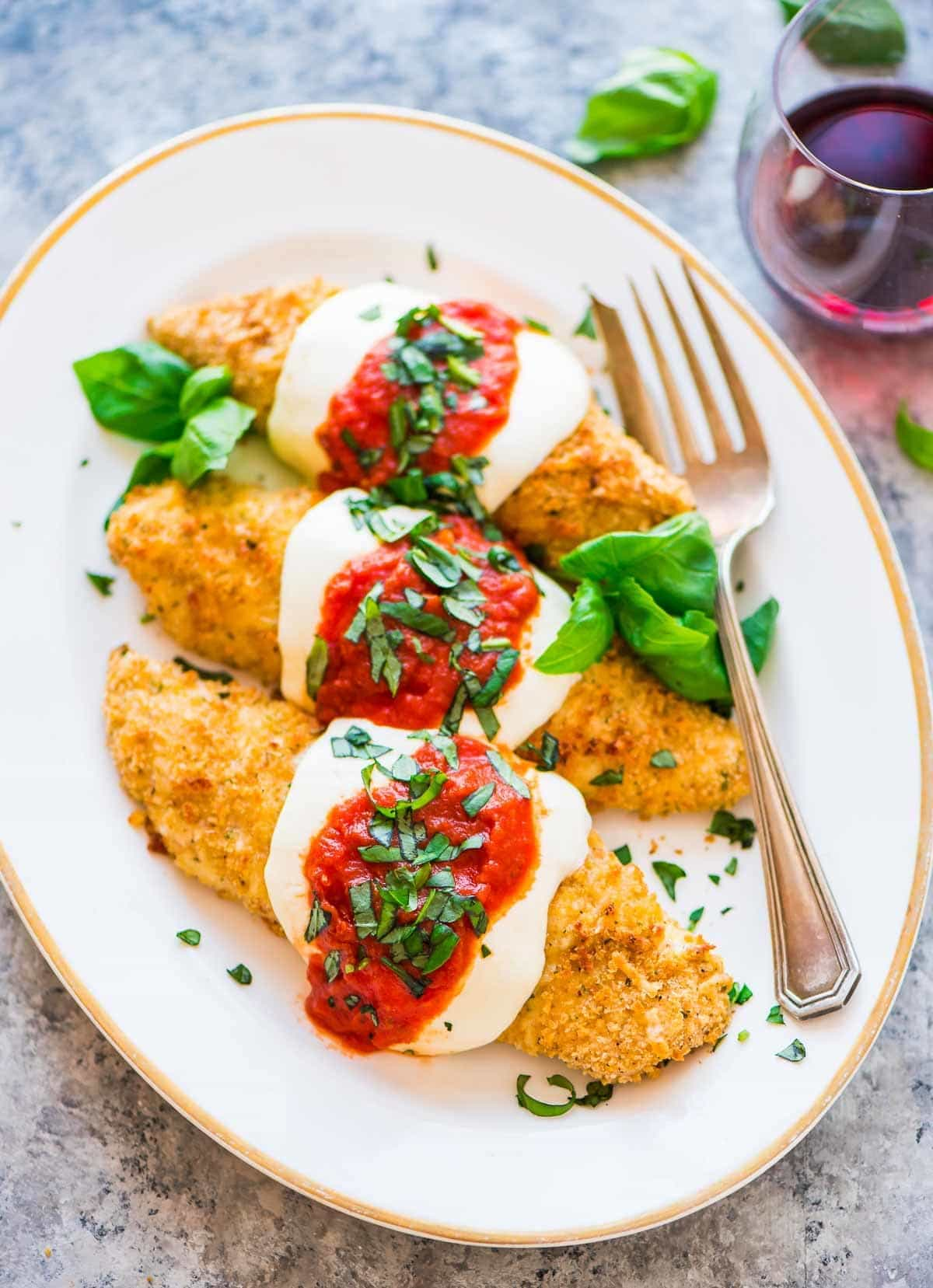 Healthy Baked Chicken Parmesan Crispy Juicy And Even Better Than A Restaurant