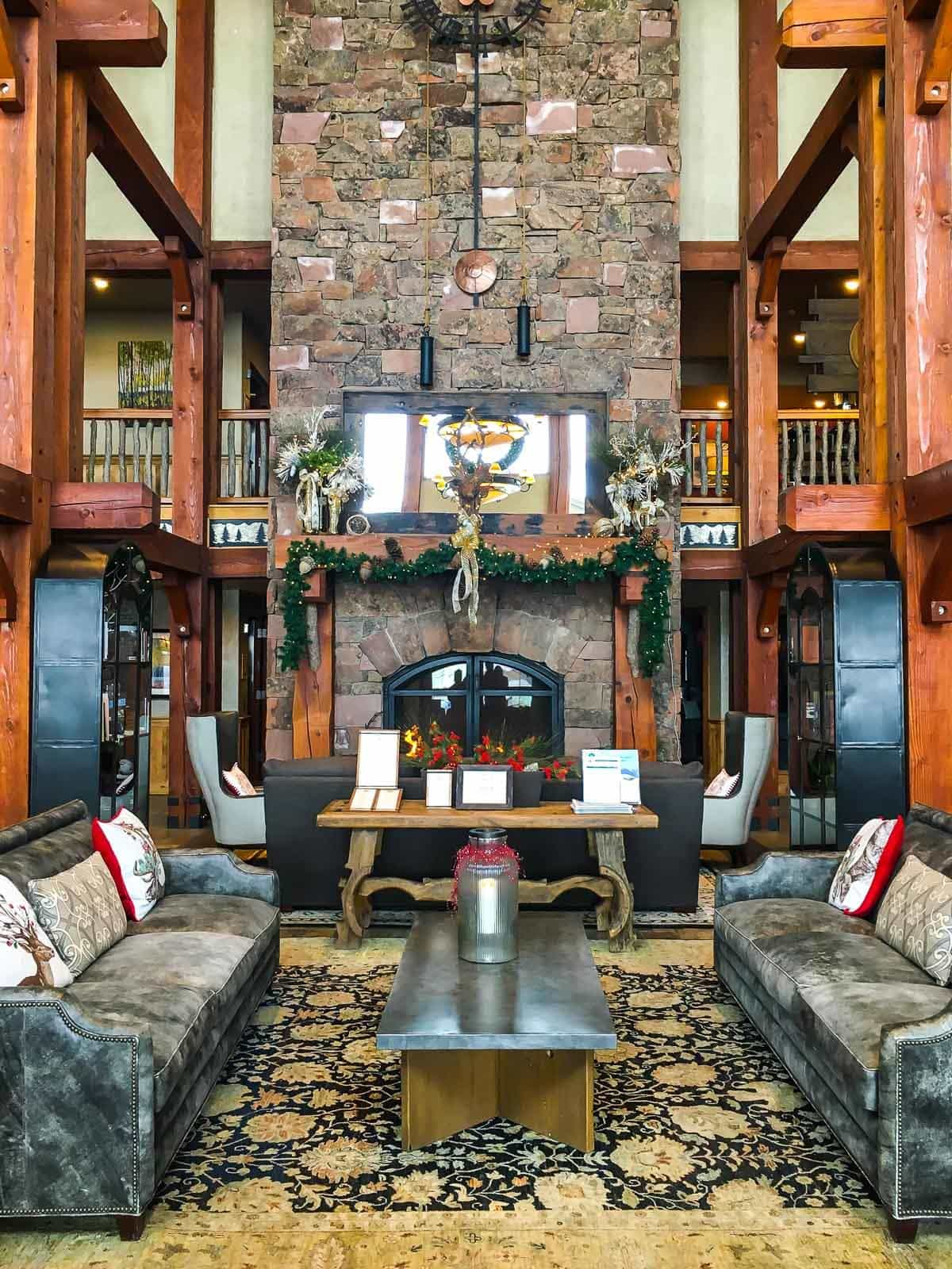 A large lobby at Deer Valley Resort