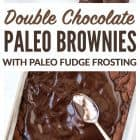 paleo brownies image collage