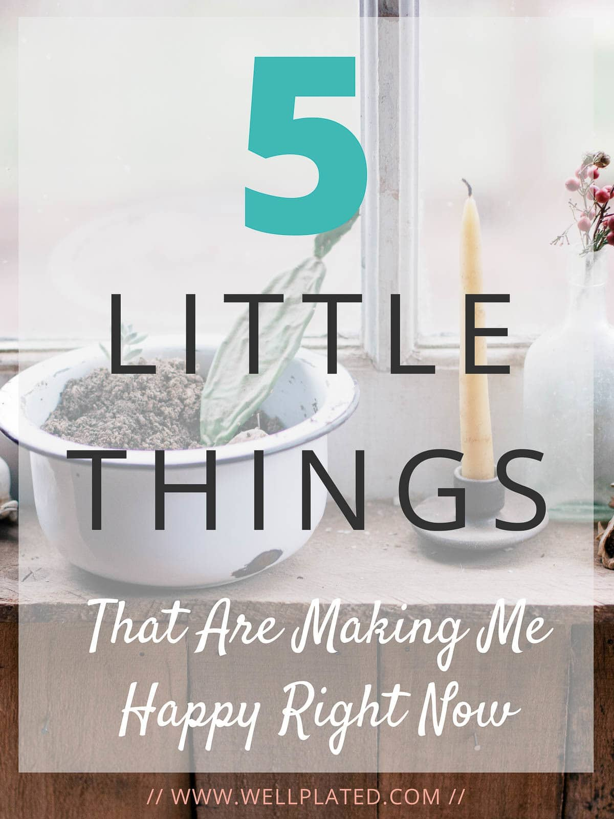 5 Little Things Making Me Happy Right Now. Simple things you can change to add more happiness to your life! — wellplated.com | @wellplated