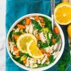 Slow Cooker Lemon Chicken Orzo Soup with Spinach and Dill. Easy, healthy with SO MUCH FLAVOR! A great way to get your vegetables, lean protein, and whole grains all in one. You'll make this simple crockpot meal again and again. Recipe at wellplated.com | @wellplated