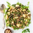 Marinated Lentil Salad with Roasted Cauliflower and Mushrooms. Bright, healthy, and perfect for a filling lunch or side. {vegan, gluten free} Recipe at wellplated.com | @wellplated