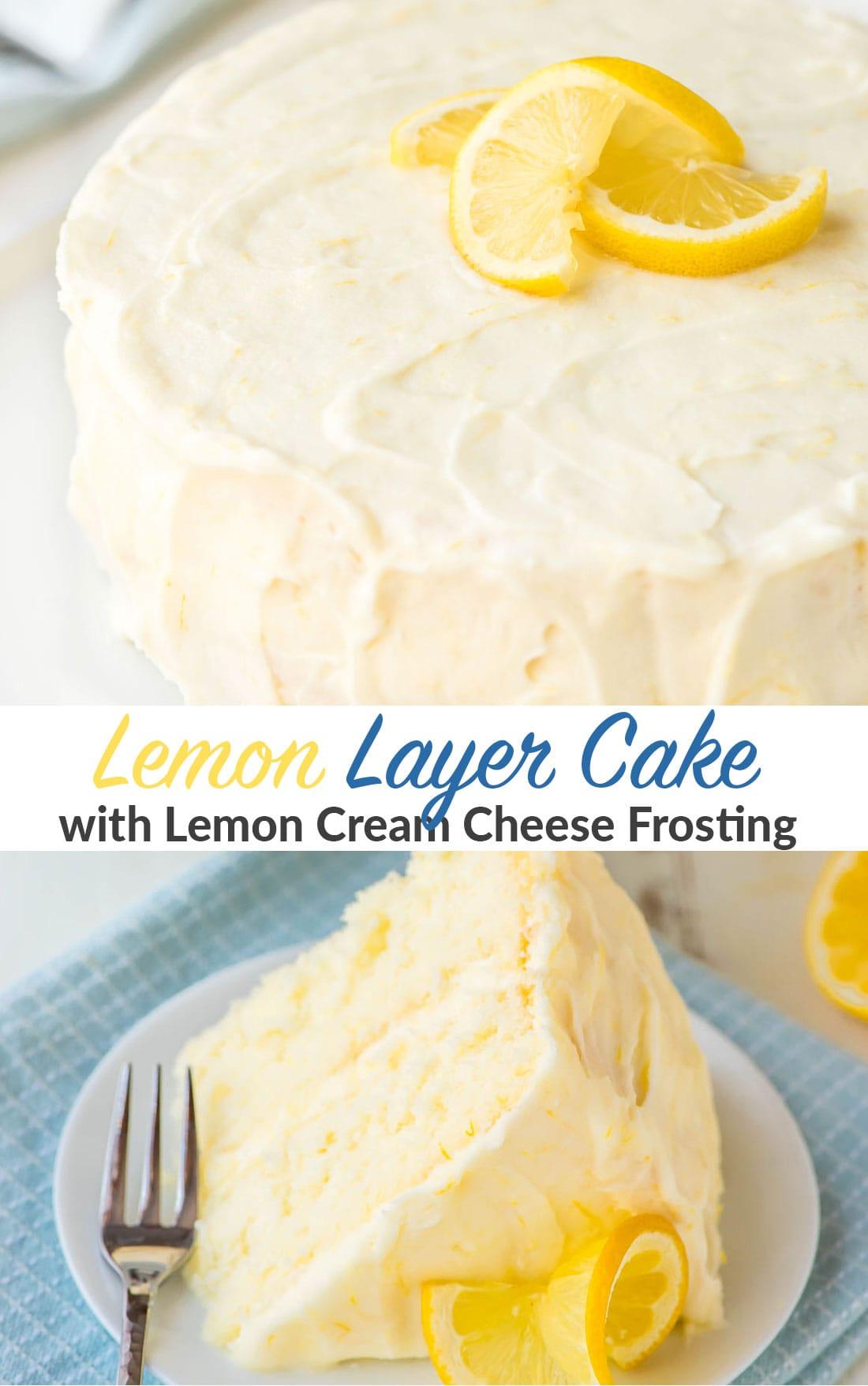 Lemon Layer Cake with Lemon Cream Cheese Frosting Recipe
