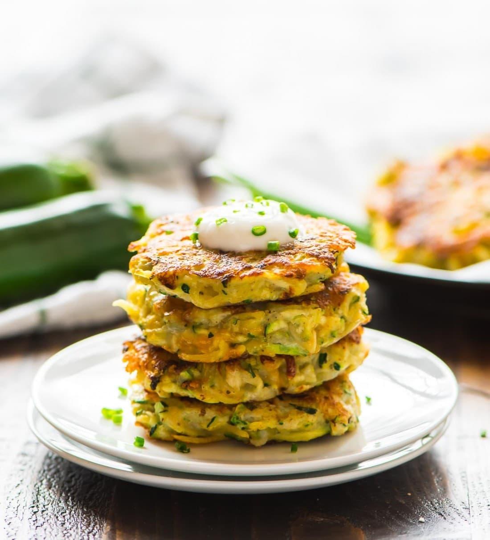 Оладьи из кабачков с сыром и чесноком в духовке рецепт