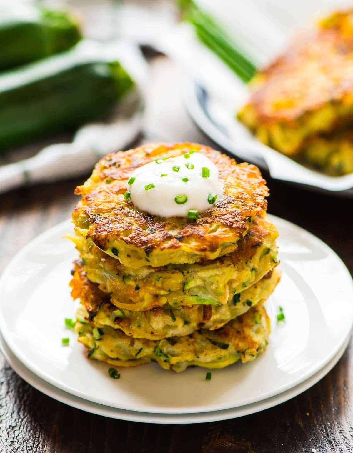 Simple recipes of pancakes from courgettes and potatoes