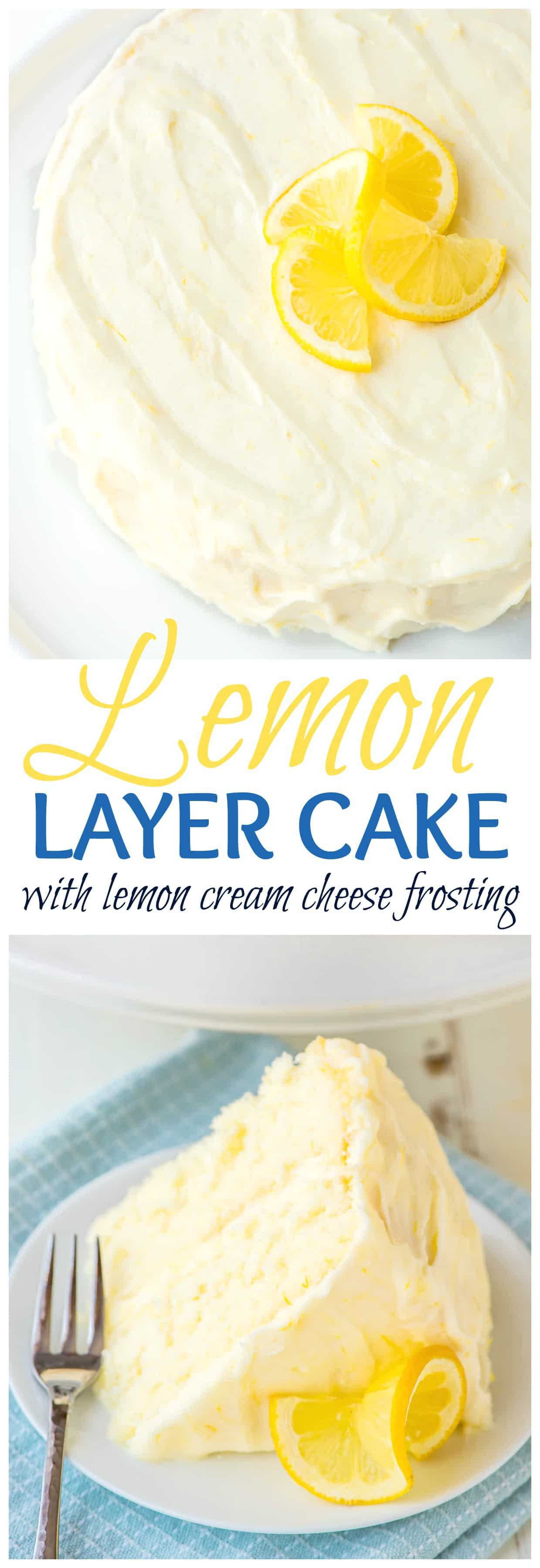 Supremely Moist And Flavorful Lemon Cake Slathered With Homemade Frosting This Is The ULTIMATE