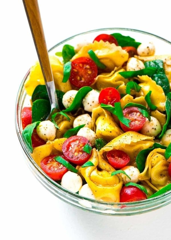Caprese Pasta Salad With Balsamic Tortellini And Fresh Basil The Perfect Combination Of