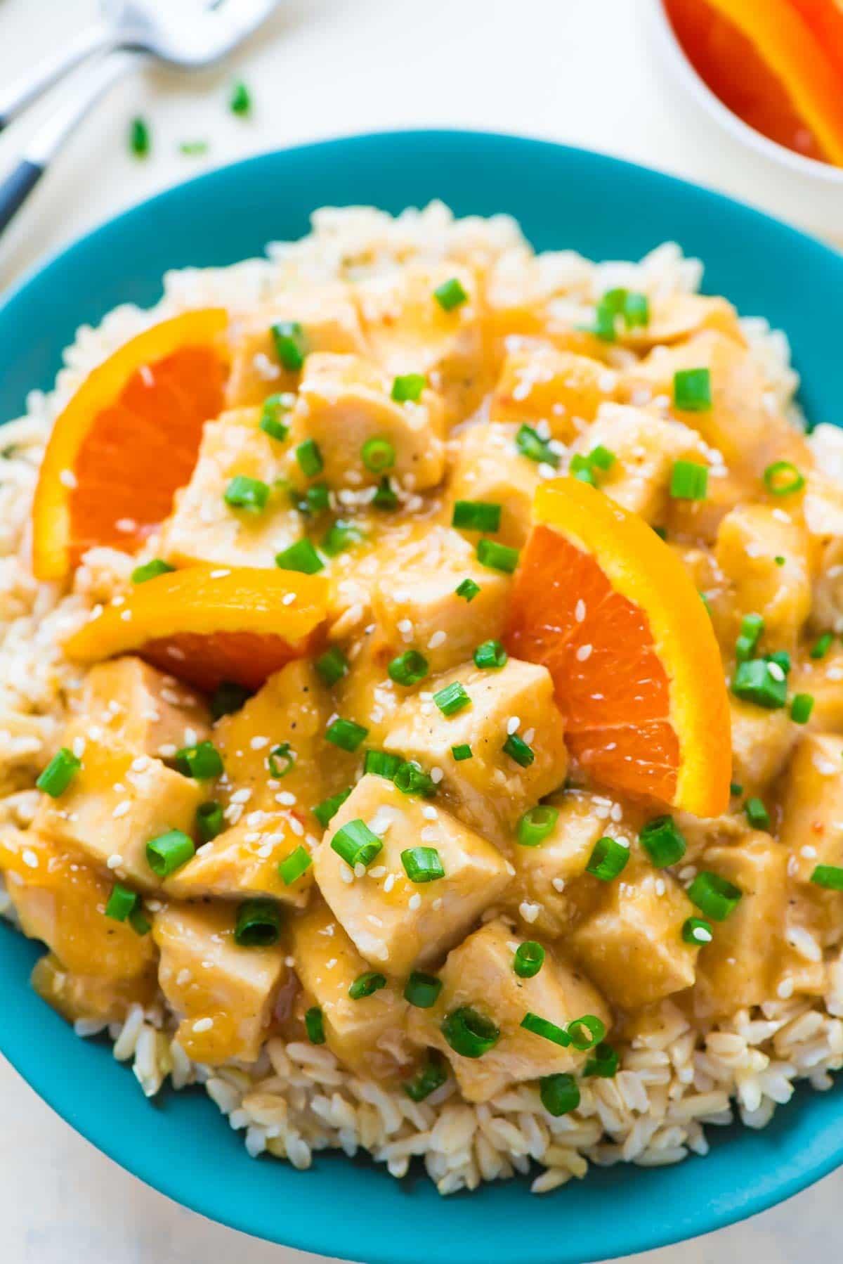 Crockpot orange chicken healthy easy recipe for Easy healthy chicken crockpot recipes
