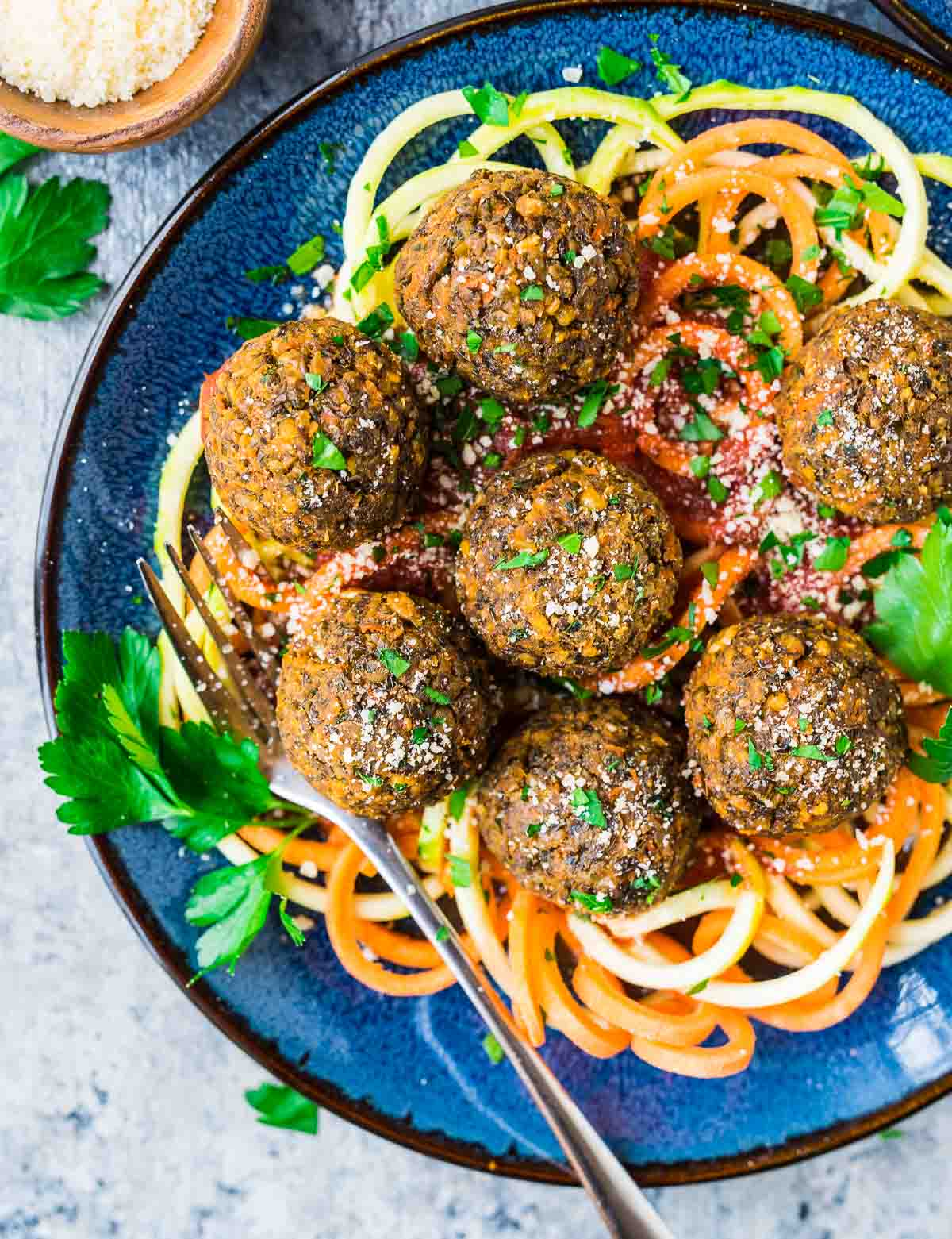 Easy Vegetarian Lentil Meatballs. A simple, healthy baked meatball recipe that's perfect for meatless dinners. Recipe at wellplated.com   @wellplated