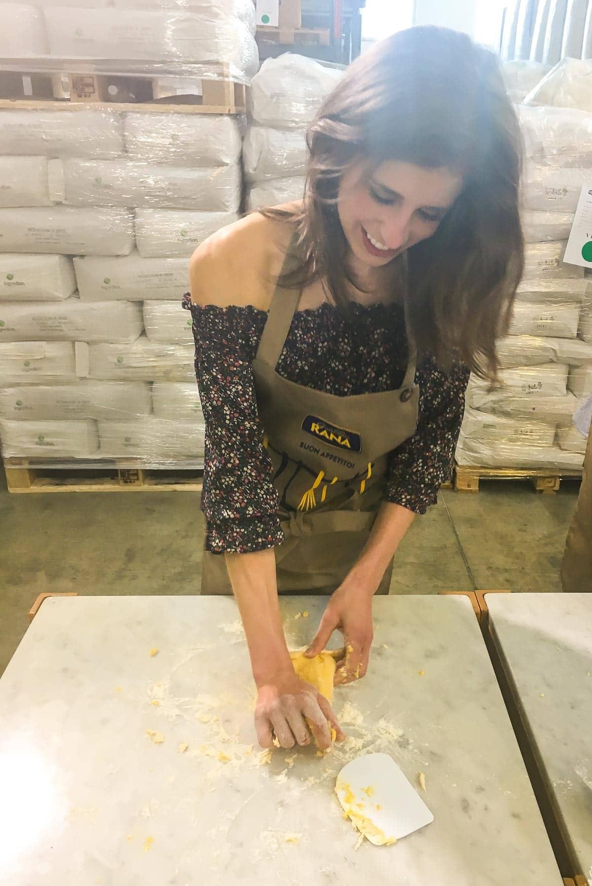 Making pasta for Caprese Pasta Salad