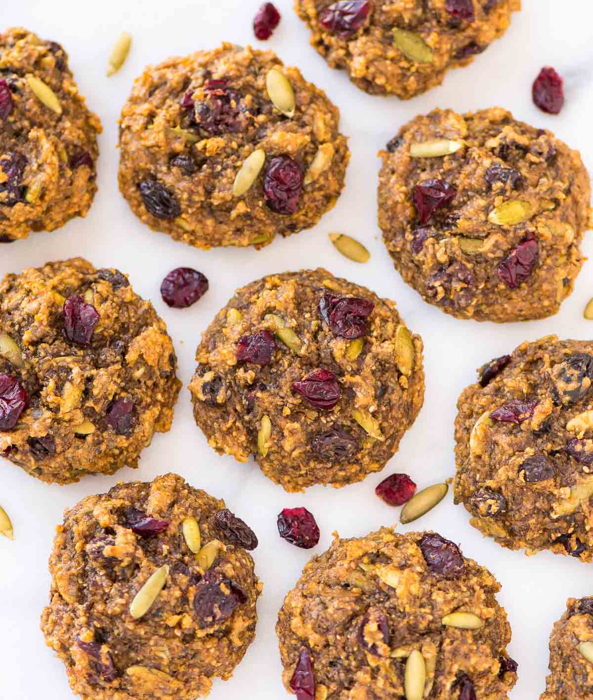 Peanut Butter Protein Cookies - 6g. protein, NO protein powder required! Flourless, naturally sweetened with banana, and loaded with oatmeal and all of your favorite mix-ins. Easy, gluten free recipe that's perfect for a healthy breakfast or post-workout snack. Recipe at wellplated.com   @wellplated