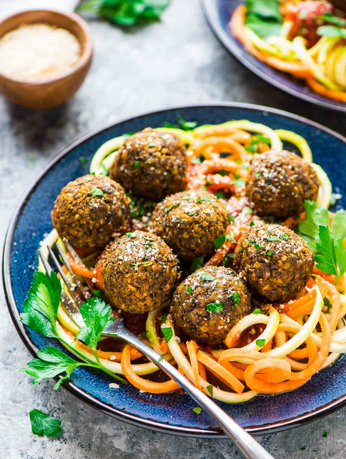 Lentil Meatballs – a protein-packed vegetarian recipe! Recipe at wellplated.com | @wellplated