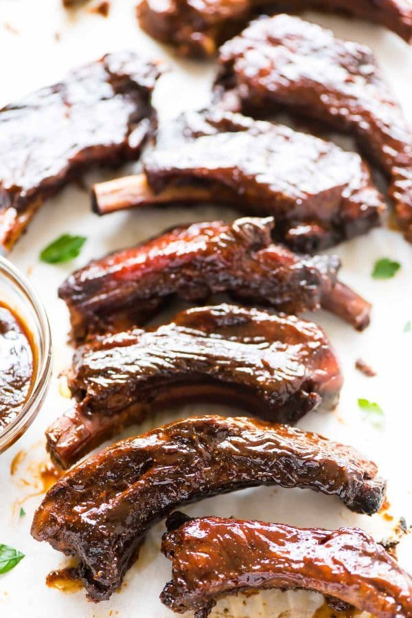 Fall-off-the-bone tender Crockpot Ribs. BEST RECIPE. Easy and so delicious. The slow cooker does all the work! Use this simple method for any kind of BBQ pork ribs. Baby back ribs, spare ribs, and country style ribs all work! Recipe at wellplated.com | @wellplated