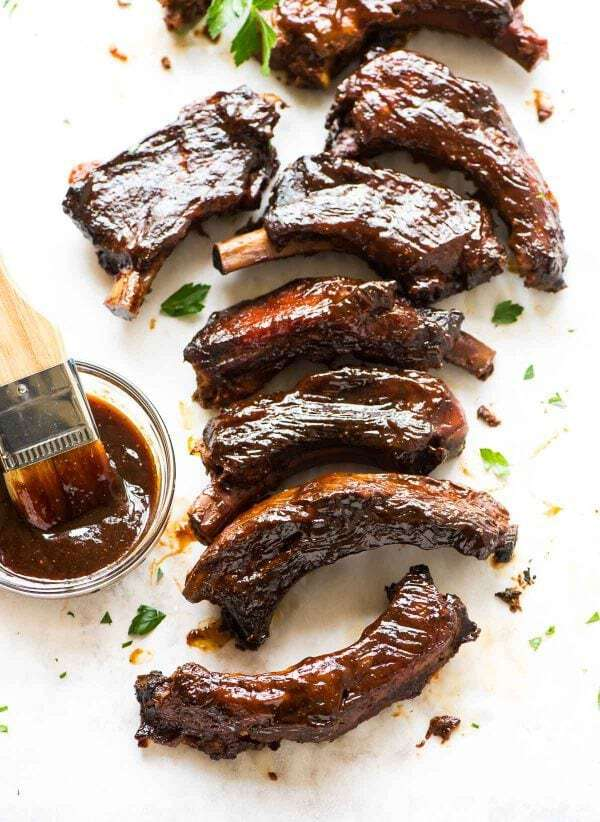 The BEST slow cooker ribs with delicious BBQ sauce