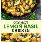 titled photo collage - One Pan Lemon Basil Chicken