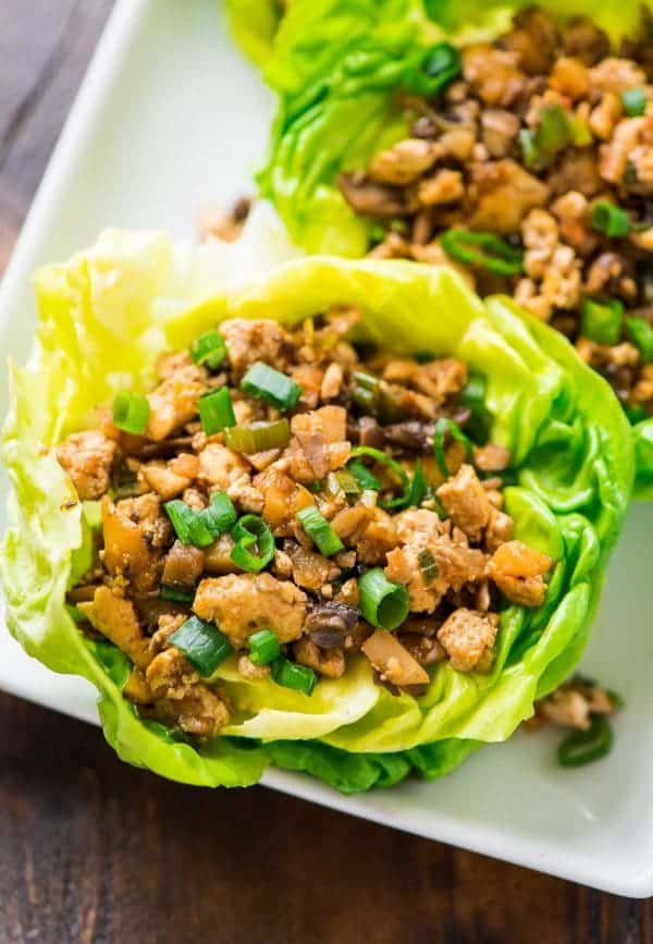 Low Carb PF Changs Vegetarian Lettuce Wraps. Tastes WAY BETTER than the original. Easy, healthy recipe that even meat eaters love! {gluten free, vegan} Recipe at wellplated.com | @wellplated