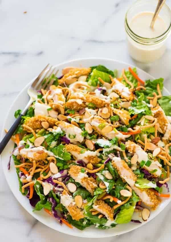 Copycat Applebee's Oriental Chicken Salad. Just like the original! A healthy homemade version that anyone can make! Recipe at wellplated.com | @wellplated