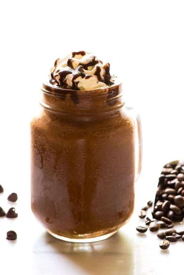 How to Make a Frappuccino at Home. Easy copycat Starbucks Mocha Frappuccino recipe that's healthy, vegan, and even better than the original! Recipe at wellplated.com | @wellplated