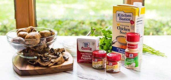 Lightened Up Creamy Chicken Stroganoff. Recipe at wellplated.com | @wellplated