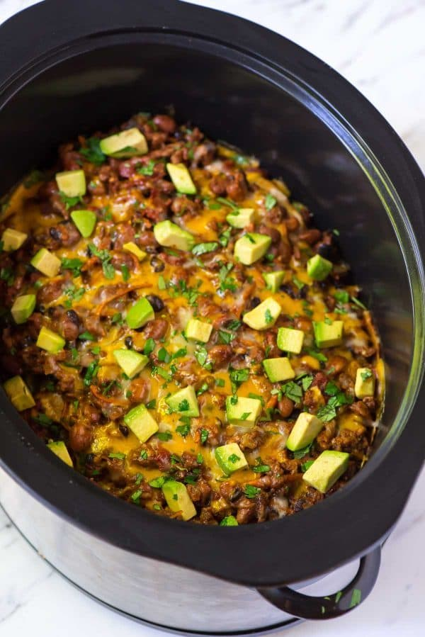 Taco casserole healthy slow cooker recipe for Healthy casserole crock pot recipes