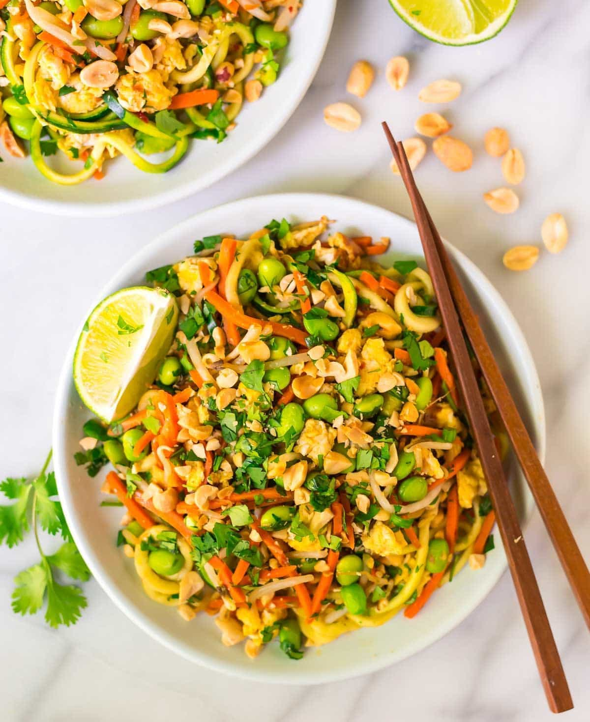 Vegetarian Pad Thai with Zoodles