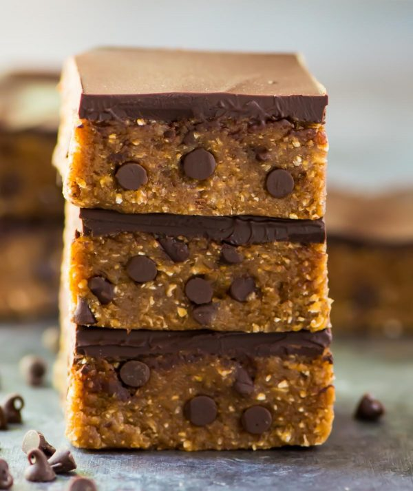 Vegan Cookie Dough Bars With Chocolate Chips Well Plated By Erin