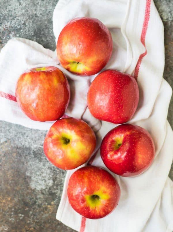 6 fresh Gala apples