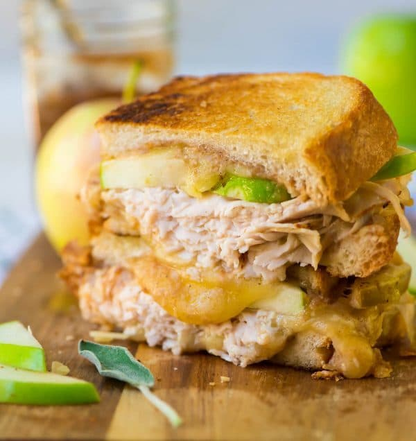 Turkey Apple Cheddar Sandwich Recipe: Apple Grilled Cheese With Cheddar And Turkey