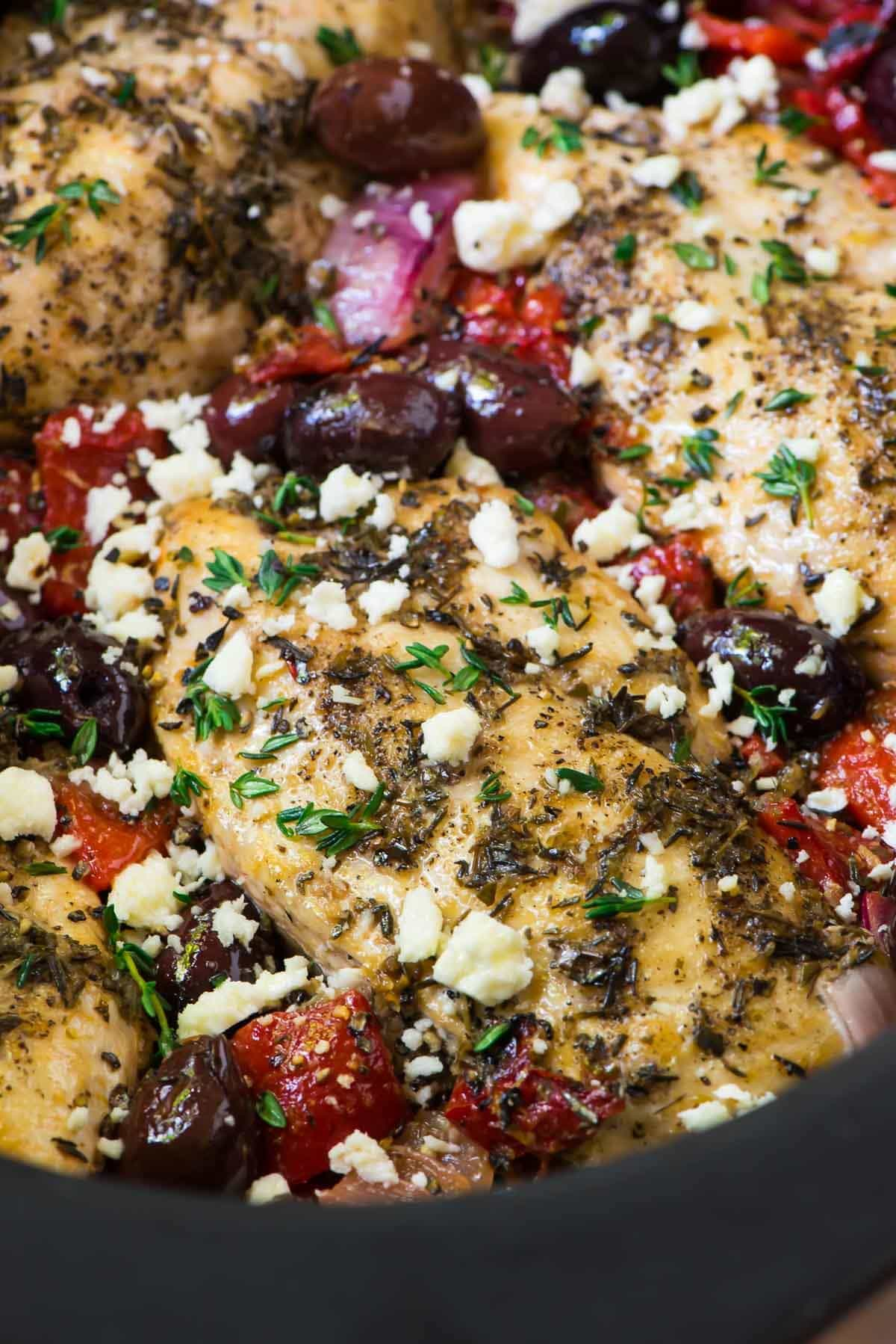 Slow Cooker Greek Chicken Recipe Well Plated By Erin