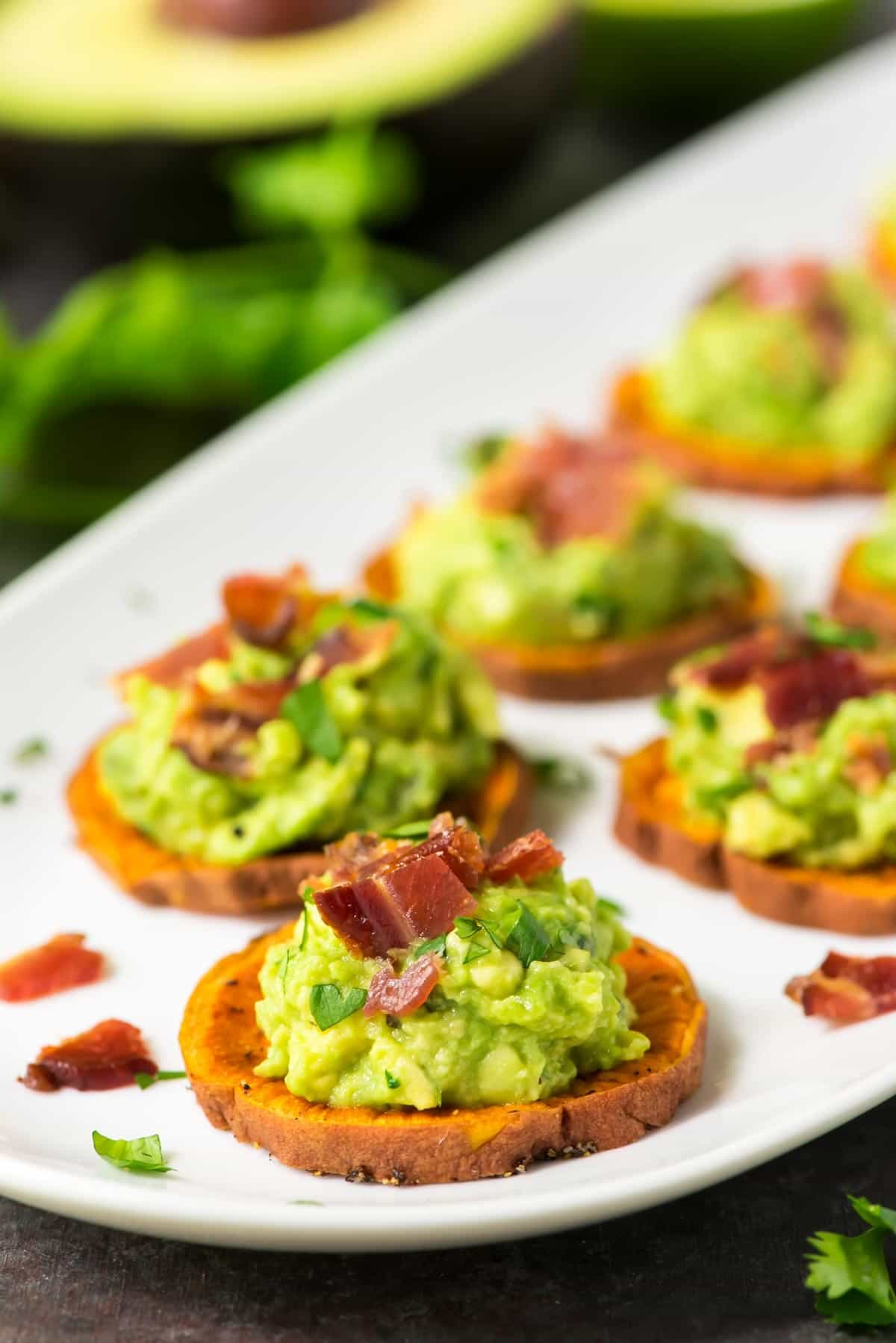 Sweet Potato Bites with Avocado and Bacon | Well Plated by ...