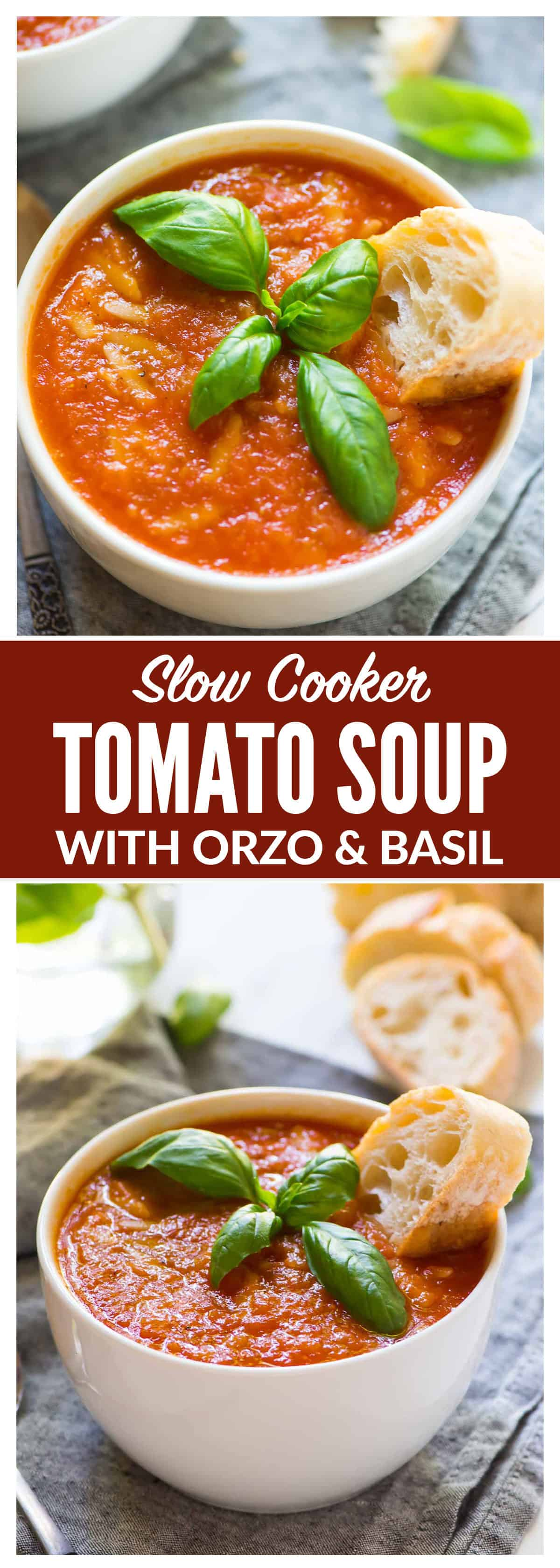 Crock pot tomato soupis a creamy,healthy low calorie soup that is packed with flavor. This slow cooker tomato soup recipe preps in just 10 minutes for a comfort food meal you will love. #crockpot #slowcooker #soup #healthyrecipe