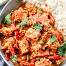 homemade Paneer Tikka Masala in a large skillet