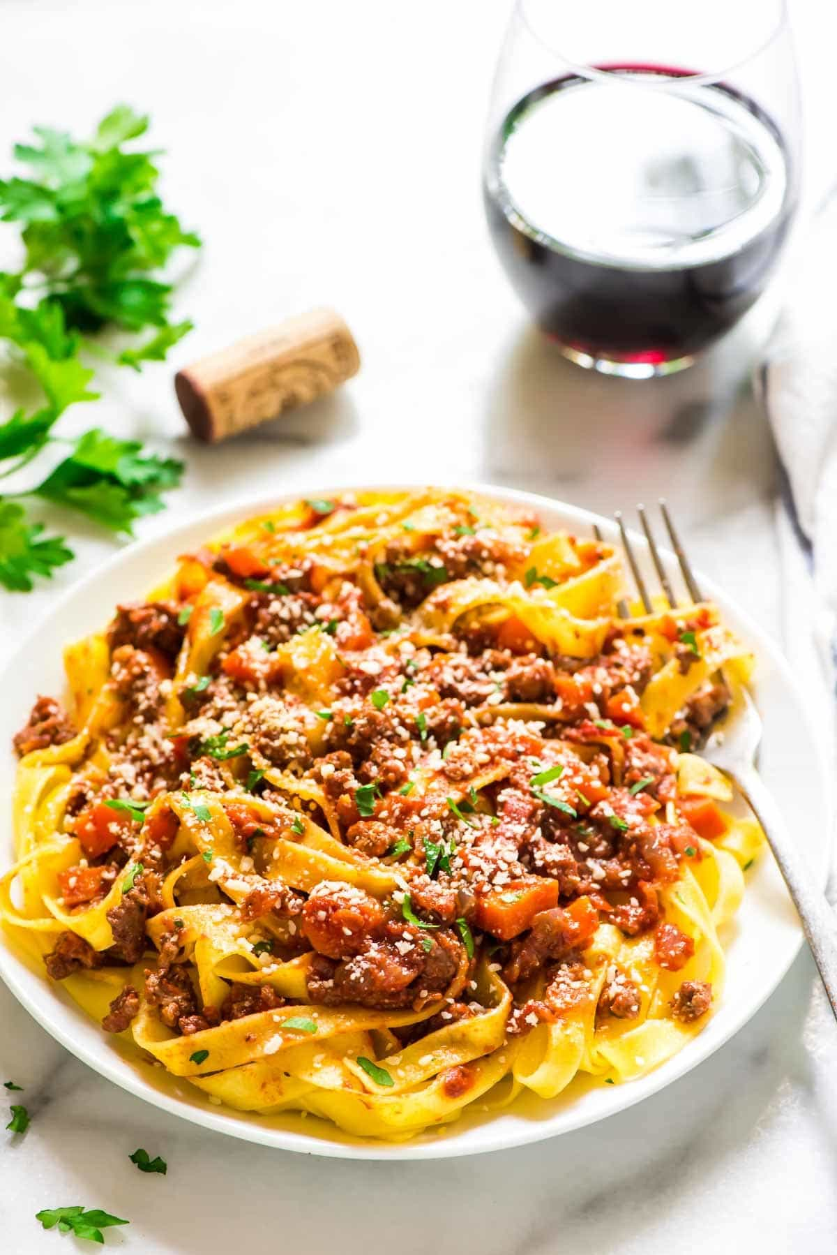 Healthy Turkey Bolognese. Quick, easy, and tastes authentic! Recipe at wellplated.com