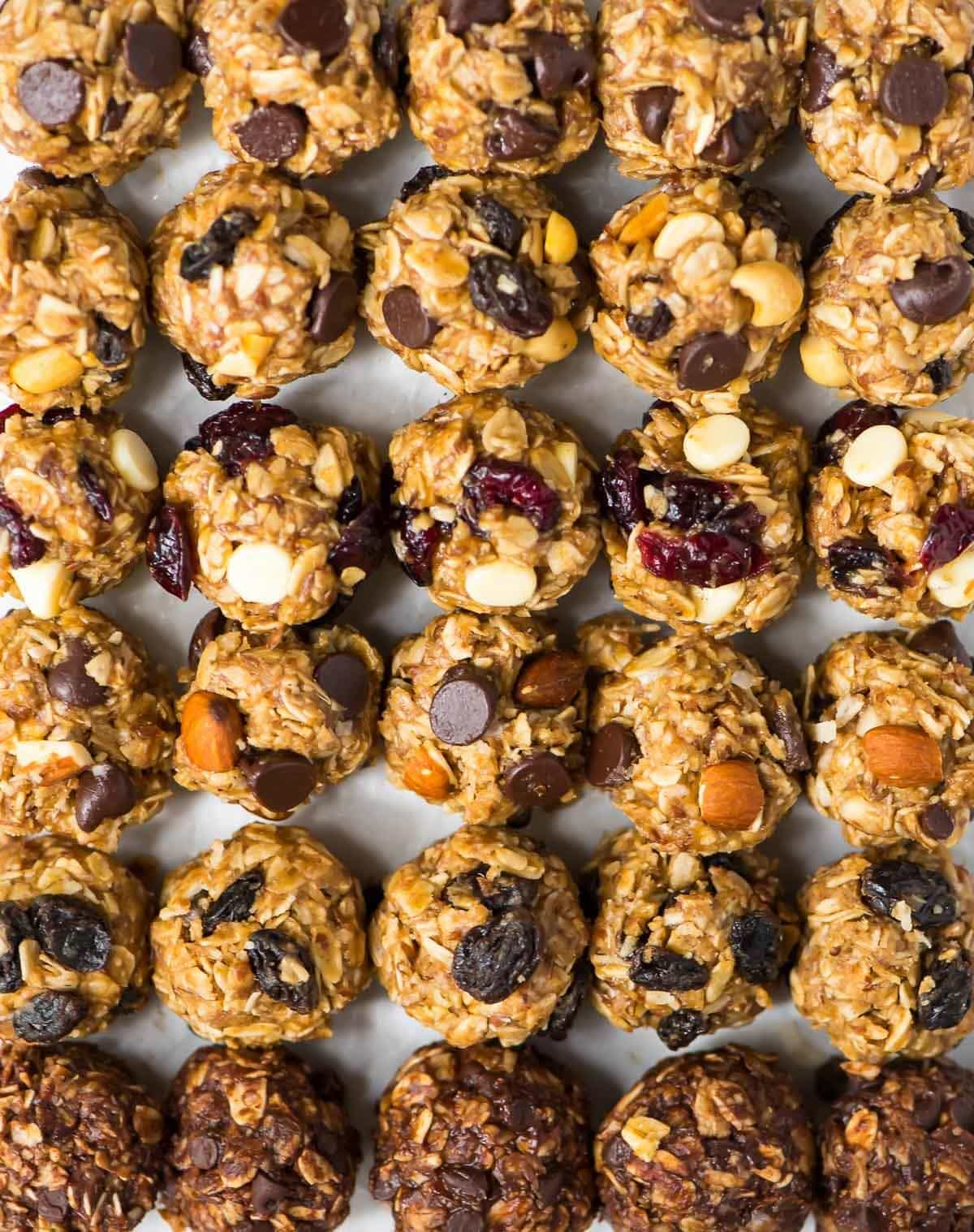 No Bake Oatmeal Energy Balls