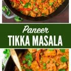 Paneer Tikka Masala (spiced Indian cottage cheese with masala gravy) is a healthy Indian dinner. This is a rich, filling vegetarian recipe that anyone can make at home!