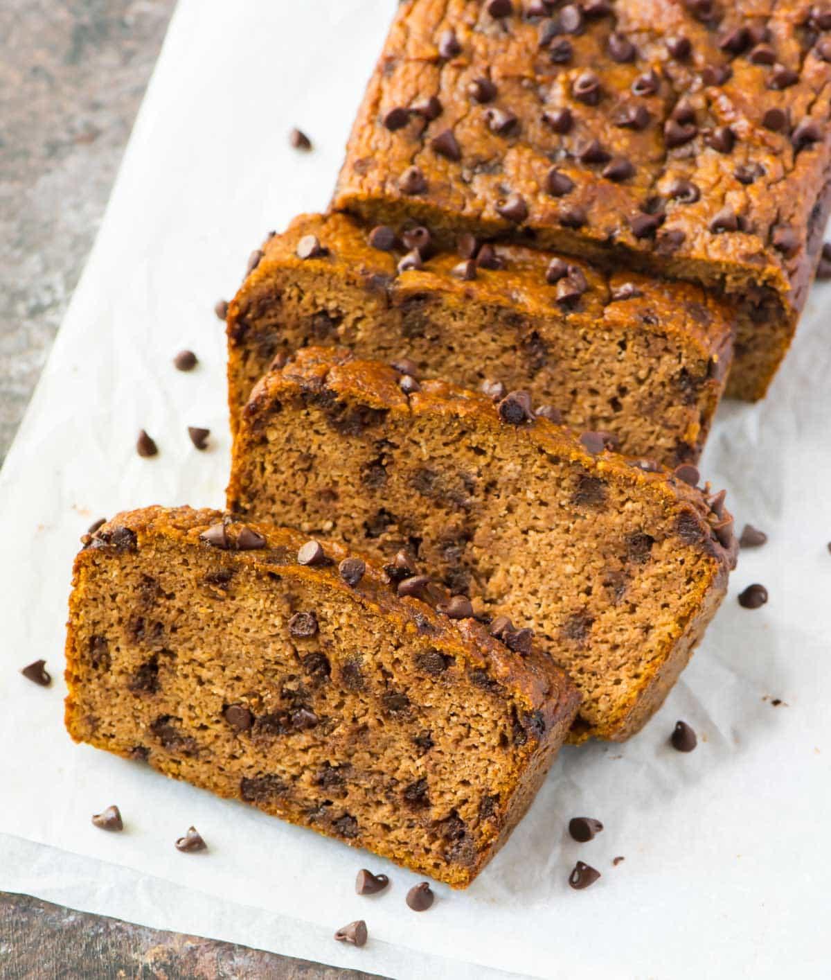 Moist Paleo Pumpkin Bread recipe. Easy, gluten free, and healthy