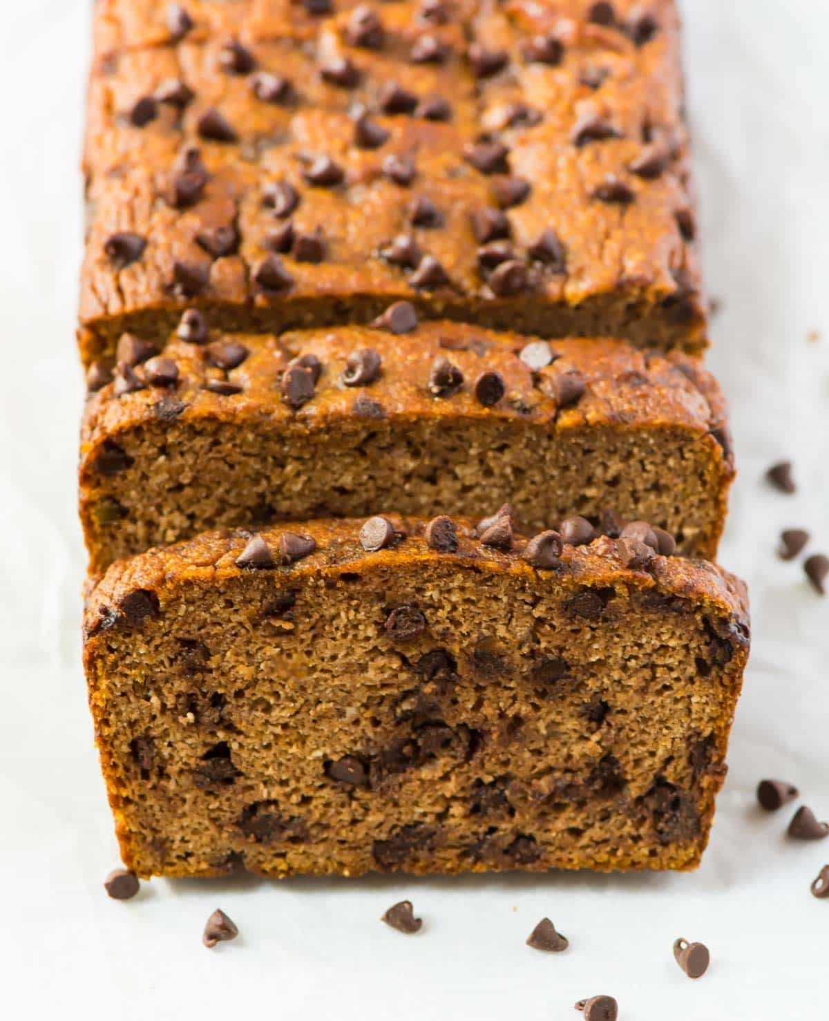 Paleo Pumpkin Bread With Chocolate Chips