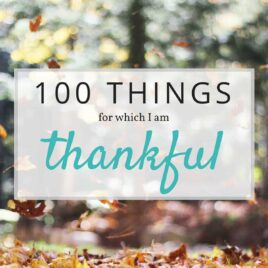"""100 Things to Be Thankful For - with blessings large and small, this list of small gratitudes is sure to make you smile and might inspire you to write a """"thankfulness"""" list of your own!"""