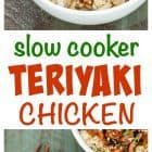 This crock pot teriyaki chicken will make you think you are eating takeout! Less than 10 minutes to prep, healthy, and the honey teriyaki sauce is out of this world! #slowcooker #crockpot #chicken #recipe