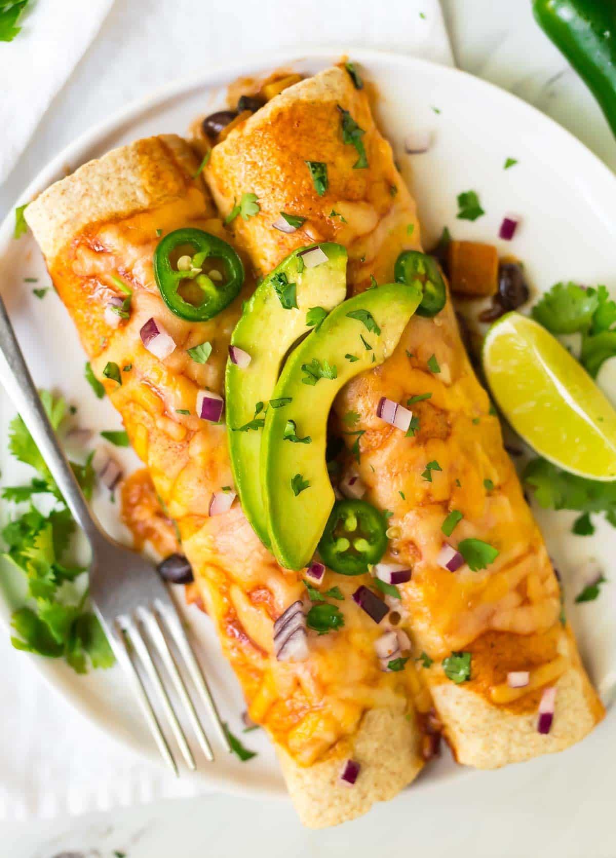 Vegetarian Enchiladas Easy To Make Ahead Wellplated Com