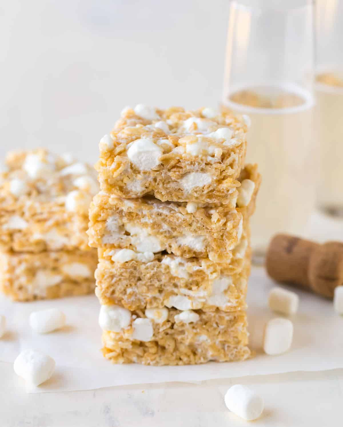Champagne Marshmallow Treats Recipe