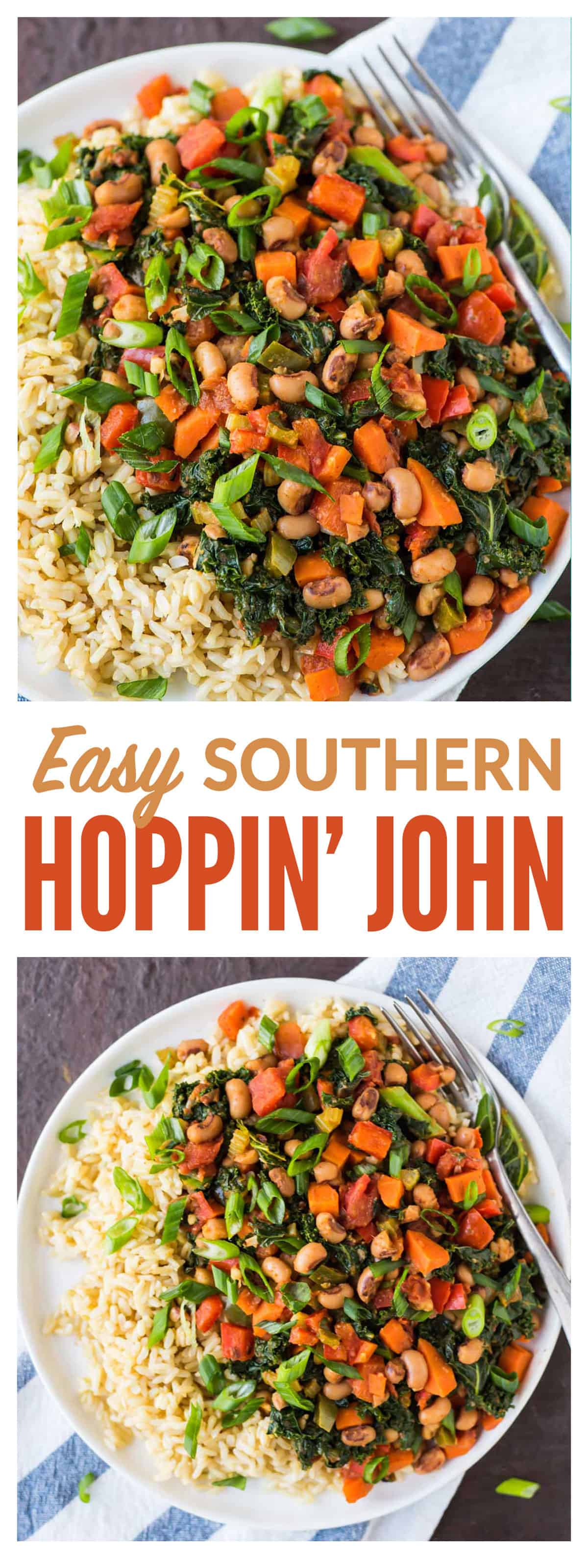 Hoppin john recipe easy vegetarian hoppin john a healthy twist on traditional southern hoppin john made forumfinder Image collections