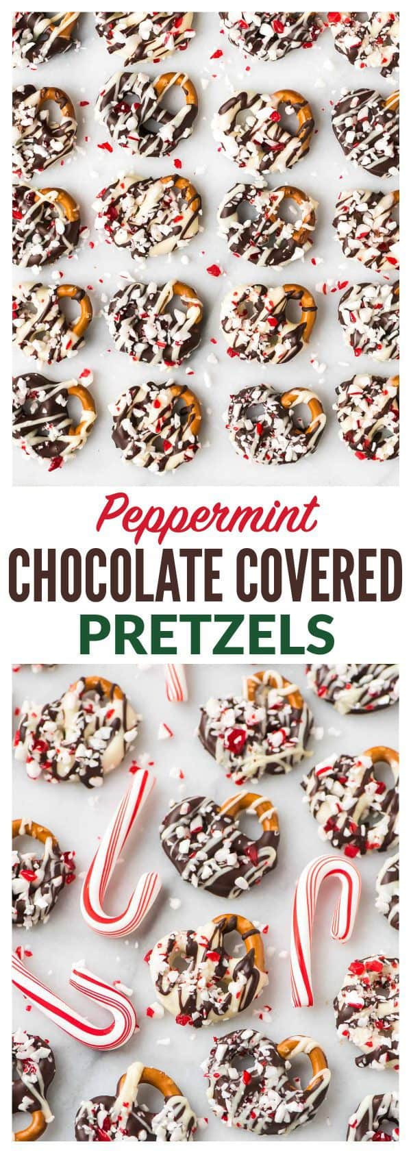 How to make easy Dark or White Chocolate Covered Pretzels with Peppermint. The perfect recipe for Christmas, Thanksgiving, and homemade holiday gifts! Simple, festive, and fun. The sweet-salt combo is complete addictive! #christmas #pretzels #recipe #easy