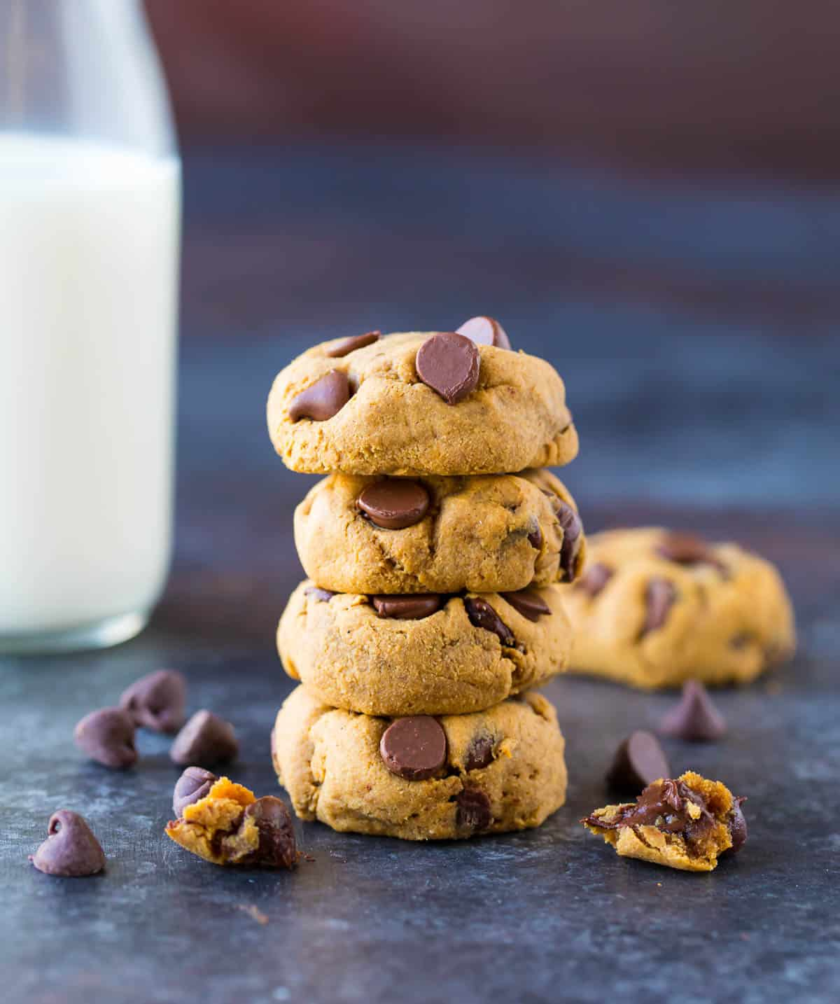 Easy Coconut Flour Cookies. These low carb, Paleo cookies are made with coconut flour, peanut butter, and chocolate chips! Perfect for a healthy dessert that everyone will love.