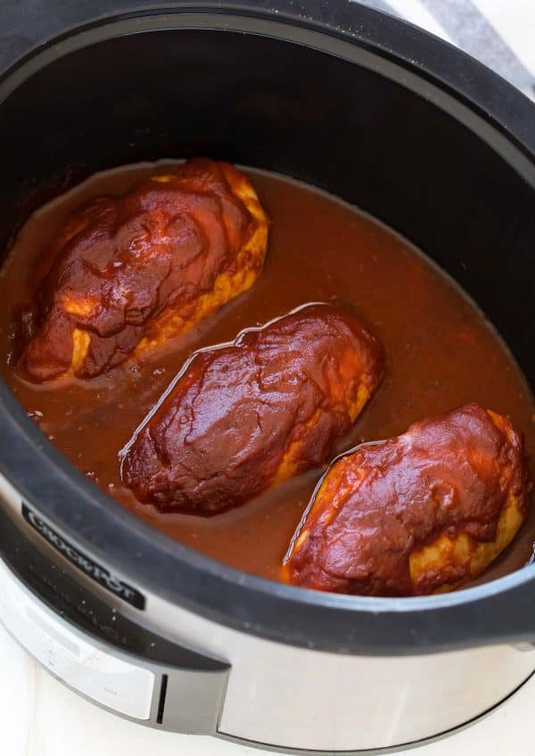 bbq chicken breasts in a crock pot