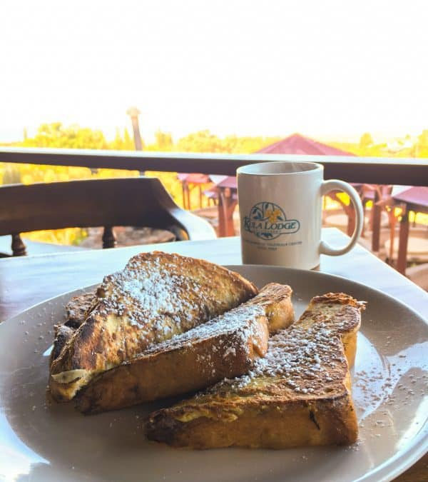 Breakfast at Kula Lodge in Maui. A great Maui restaurant to visit!
