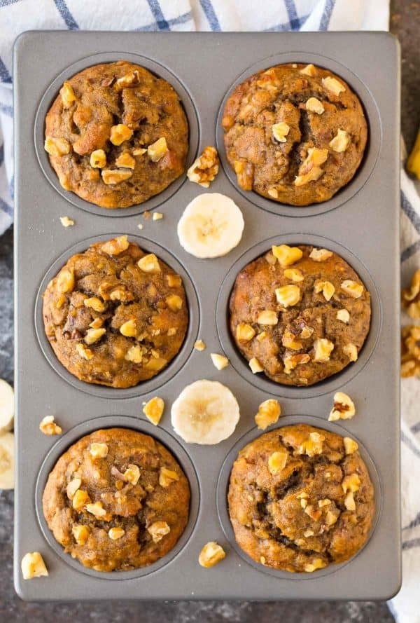 Healthy Banana Muffins Wellplated Com