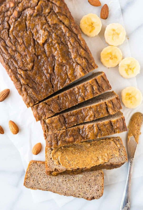 Paleo Banana Bread. Healthy, moist, and tender, this perfect banana bread sweetened with honey or maple syrup has no flour, no oil, and no butter. Can also be made in a muffin tin for Paleo banana bread muffins!