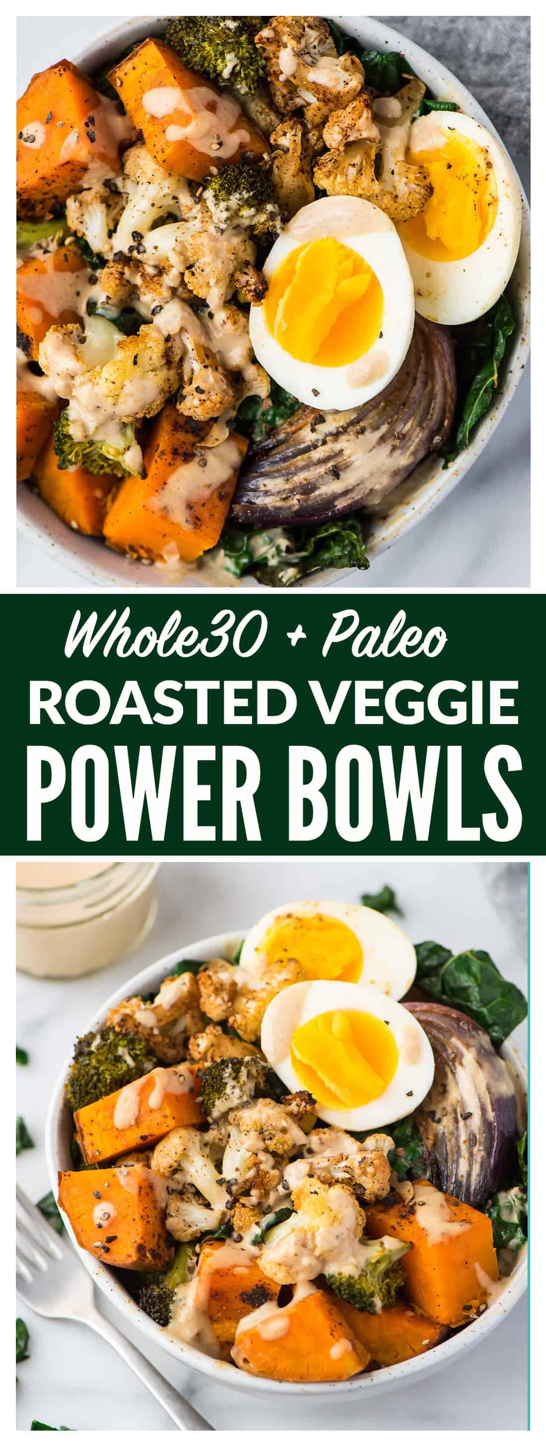 Whole30 vegetarian power bowls easy whole30 recipe easy and healthy whole30 vegetarian power bowl low carb packed with roasted veggies forumfinder Images