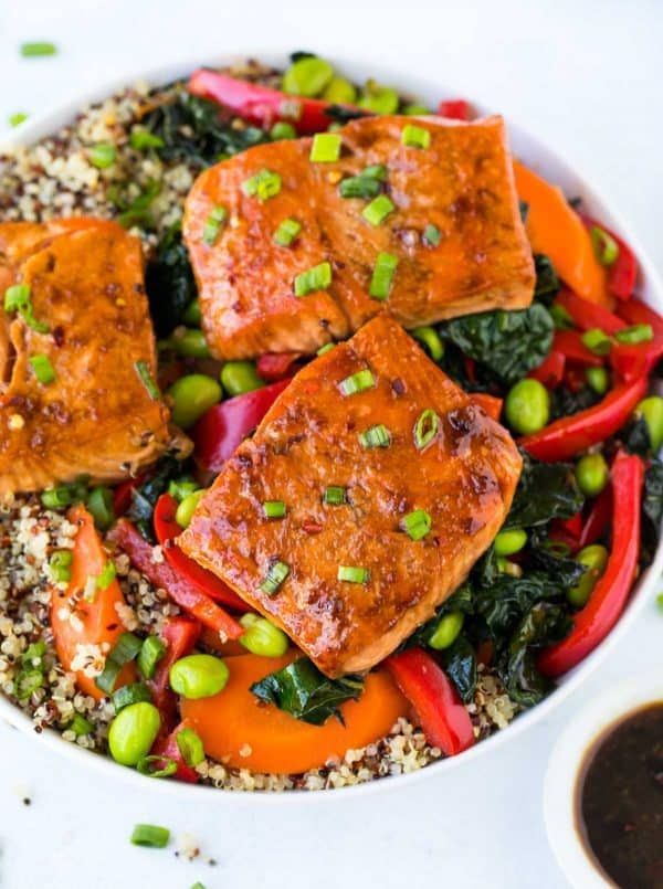 Teriyaki Salmon Quinoa Bowl